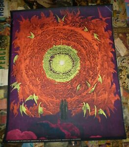 BLACKLIGHT ART POSTER ORIGINAL 1971 GATES OF HEAVEN
