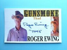 """GUNSMOKE"" ROGER EWING ""THAD"" AUTOGRAPHED 3X5 INDEX CARD"