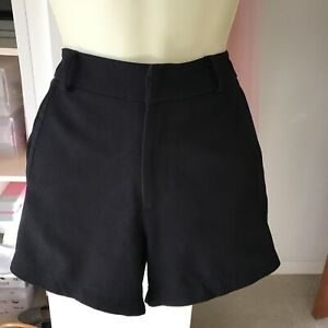 Sophie Rue Black Dressy Short Hot Pants Size M UK 10 Clubbing