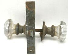 Antique Mortise Lock and Glass Door Knobs Restoration Hardware+Shaft+Faceplates
