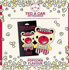 TED A CAR Popcorn Scented Car & Home Air Freshener TEDACAR Teddy Little Tree