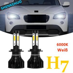 H7 Super Weiß 6000K Birne LED REPLACE Halogen Beschichtet Scheinwerfer Kit