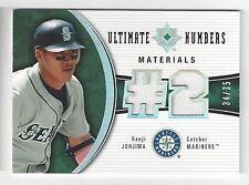 2006 Upper Deck Ultimate Numbers Material - Kenji Johjima - #Un-KJ - Rookie