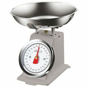 Bilancia Meccanica Analogica da Cucina in Metallo Atlas Vintage 5Kg Grigio