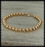 Bracelet Moderne Maille Boules 19 CM Plaqué Or 18 carats Bijoux Femme