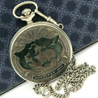 MOLNIJA Discovery Day America Columbus Collectible Retro Pocket Watch 500 Years