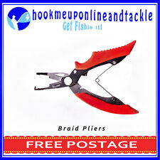RED HANDLE PLIERS SUITABLE FOR BRAID ALSO CRIMPS WIRE TRACE SLEEVES S/STEEL