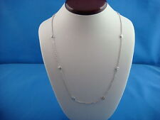 """! GORGEOUS 1 CARAT T.W. """"DIAMONDS BY THE YARD"""" 10 STATIONS NECKLACE, 18"""" LENGTH."""