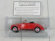 Golden Wheel Forties Ford Red Coup Convertible Diecast Car 1940 1:32 Replica