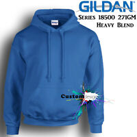 Gildan Royal Blue Hoodie Heavy Blend Basic Hooded Sweat Mens Pullover