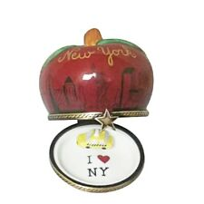 Rochard Limoges I Love New York Apple Trinket Box