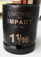 """Armstrong 21-134 3/4"""" Drive 1-1/16"""" Impact Socket 12 Point USA"""