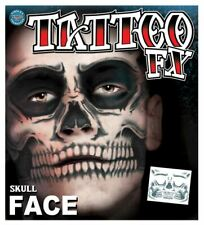 Tinsley Transfers Face Tattoos Skull Face Day Of The Dead Make Up Halloween