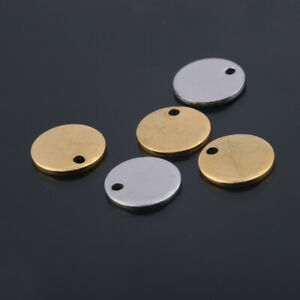 20X Stainless Steel Round Blank Charms 10mm Stamping Dog Tags For Jewelry Making