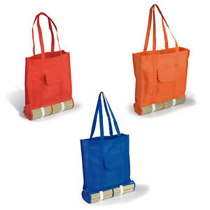 Straw Beach Mat with matching detachable polyester bag, great for fun days out
