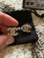 Chanel CC logo Earrings Boucles Oreille Z2371 Mint Rare