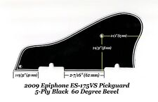 Epiphone ES-175 VS 2009 5-Ply Black Pickguard W/60 Deg Edge Guitar Project NEW