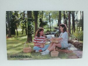 Vintage 1990's Basket Weaving Edwards Mill Point Lookout Missouri Postcard Girls