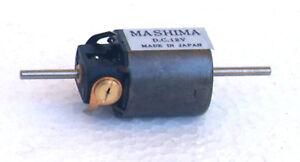 Mashima 1220 12v DC 5 pole motor - 12mm wide x 20mm long - Dual shaft