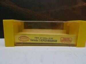 AURORA MoDeL MoToRing #1406 Formula 1 REPCO BRABHAM Original LABEL/BOX +RaRe+
