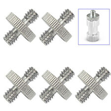 """5 Pieces 1/4"""" Male to 1/4"""" Male Threaded Screw Adapter for Camera Cage/Tripod"""
