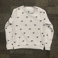 "Kenzo Paris  ""eye"" Sweater Sweatshirt Grey Long Sleeve Designer Rare MEDIUM M"