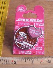 Disney pin Star Wars Yoda pink Mine Will You Be? Valentines day MOC