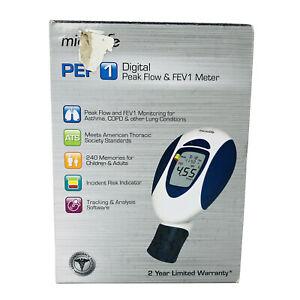 Microlife PEF 1 Digital Peak Flow & FEV1 Meter Spirometer Asthma COPD Lung Condi