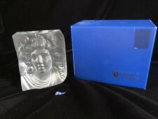 """NEW Vintage SEVRES France Large Crystal Art Glass Roman Head Bust 5.5"""" Tall"""