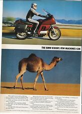 BMW K100RT classic period motorcycle advert 1985