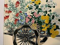 Woodblock Prints. Pair.  Flower Cart in Autumn/ in Spring; Japan.  Kin-u Takeshi