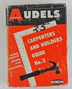 Vintage Book: Audels Modern Carpenters and Builders Guide No. 2, 1961 (9954)