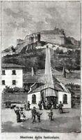 Orvieto:Stazione della Funicolare.Terni.Umbria.Stampa Antica + Passepartout.1897
