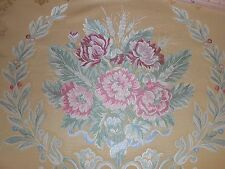 7Y new antique style Italian upholstery Fabric large Medallions floral design