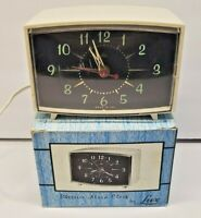 Vintage Lux Alarm Clock Mid Century Atomic Starburst Design Glow In The Dark