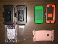 Apple iPhone 4, 5, & 6(?) LOT of 7 Assorted Clip/Case - Otter Box, Lifeproof, ?