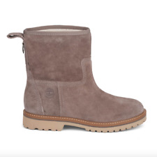 Timberland Chamonix Valley Winter Boots Taupe Suede Boots Fur Lined SIZE UK 7