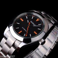 PARNIS 40mm Black Dial Sapphire Glass Milgauss Style Automatic Men's Wrist Watch