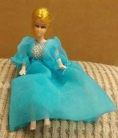 Vintage 1960's Dawn doll by Topper Co in a Dawn dress Eye lashes Blonde Rare HTF