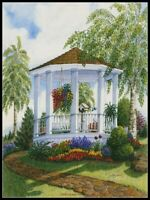 Garden Gazebo 2 - DIY Chart Counted Cross Stitch Patterns Needlework 14 ct Aida