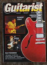 Guitarist magazine - Robert Cray, It Bites etc. (January 1987)