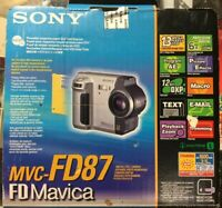 Vintage Sony FD Mavica Digital Still Camera Model MVC-FD87 W/Box & Manuals