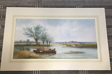 """""""On the Ouse Sussex"""" an original Watercolour by The Hon. Walter John James RBA"""