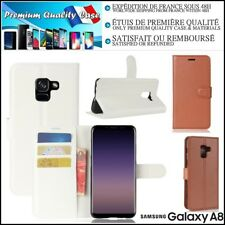 Etui Coque Housse Cuir PU Leather Stand Wallet Case Samsung Galaxy A8 (2018)
