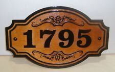 Personalized WOOD SIGN . STREET ADDRESS - HOUSE NUMBER . ENGRAVED - GIFT.