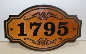 Personalized WOOD SIGN.STREET ADDRESS - HOUSE NUMBER.ANY TEXT ENGRAVED GIFT.
