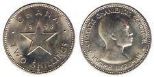 2 Shillings 1958 Kwame Nkrumah Ghana #6902A