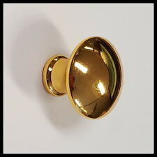 30x die-cast Mushroom Knob Gold Plated - For Draws, Cupboards & Cabinets 5003976