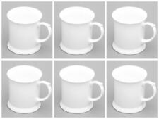 White bone china mugs SET OF 6 tankard shape bone china mug
