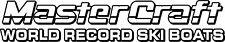 2 Color MasterCraft World Record Ski Boats Decal #2
